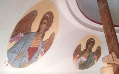Продолжается роспись церкви во имя иконы Божией Матери «Нечаянная радость»