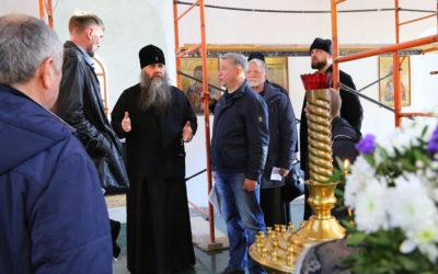 Митрополит Георгий посетил в строящийся храм в честь иконы Божией Матери «Нечаянная радость»